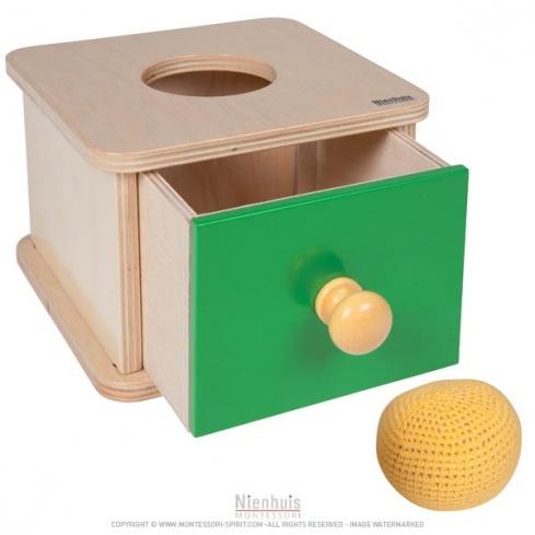 Boite tiroir balle tricot montessori spirit - Boite a tiroir ...