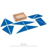 Triangles constructeurs bleus
