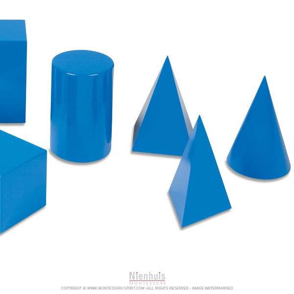 The 10 Geometric Solids introduce the child to solid geometry. 3 clear ...