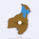 Pièce puzzle planisphère du monde : Australie