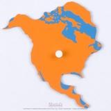 Pièce puzzle planisphère du monde : Amérique du Nord