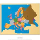 Carte puzzle de l'Europe