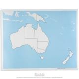 Carte de contrôle muette de l'Australie - océanie