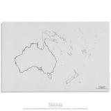 Silhouette de l'Australie - océanie x50