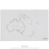 Carte des états de l'Australie - océanie x50