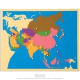 Carte puzzle de l'Asie