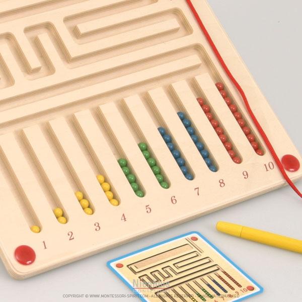 planche magn tique apprendre compter montessori spirit. Black Bedroom Furniture Sets. Home Design Ideas