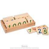Petite boite des symboles de 1 à 9000 en bois