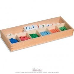 Matériel pour plateau des nombres décimaux