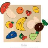 Puzzle incrustation : fruits