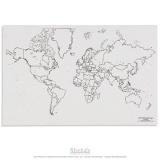 Carte politique du monde avec lacs x50