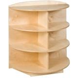 Tête de meuble étagères arrondies (H 101cm)