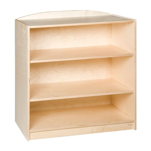 End cabinet 3 straight shelves 101 cm montessori spirit for Cabinets 101