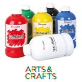 Assortiment 6 bouteilles peinture textile 500 ml