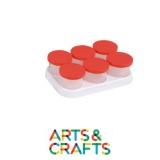 Support avec 6 pots de peinture 125 ml anti-débordement inclus