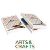 Boite carton 288 crayons forme hexagonale - Pointe 3.7 mm - 12 couleurs assorties