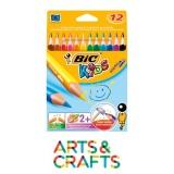 Boite 12 couleurs assorties Bic Kids Evolution - à partir de 2 ans
