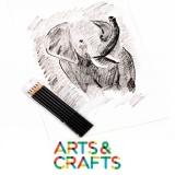 Ensemble de 6 crayons pour croquis : 2B, 3B, 4B, 6B, 8B, 9B