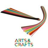 200 bandes à vagues couleurs assorties 2 x 20 cm