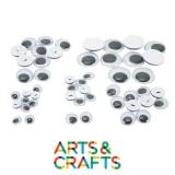 Yeux à pupilles mobiles avec attache - Pack de 10