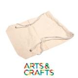 Sac à dos 40 x 46 cm à colorier et décorer en coton