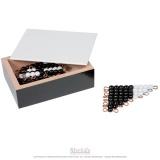 D - Set de 5 escaliers perles noires et blanches indiv. nylon