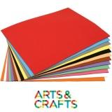 Papier cartonné 50 x70 cm - 270 gr - pack 90 ou 180 feuilles 17 couleurs assorties + blanc