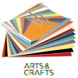 Papier cartonné une seule face - 340 gr - paquet 100 feuilles couleurs assorties