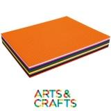Paquet de 100 cartons perforés 24.5 x 34.5 cm - 290 gr - 10 couleurs assorties