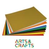 Pack 80 papiers cartonnés 380 gr - 48 x 68 cm - coloré 1 face
