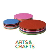 Pack 480 feuilles rondes - papier craft 60 gr - 12 couleurs assorties