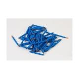 Chaîne longue de 9 en perles connectées nylon bleu foncé
