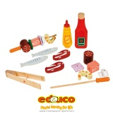Wooden barbecue food set