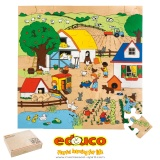 Floor puzzle - the farm (49 pieces)