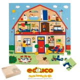 Floor puzzle - the house (36 pieces)
