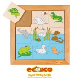 Animals puzzle - marine animals