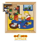 Family puzzles - New baby - playing (9 pieces)