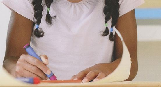 Crayons et craie