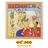 D - Sports puzzle - basketball