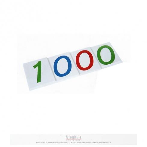D - Large Number Cards 1-1000, Papier