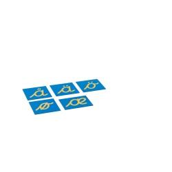 Lettres rugueuses cursives - set lettres nordiques