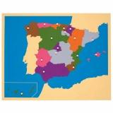 Carte puzzle : Espagne