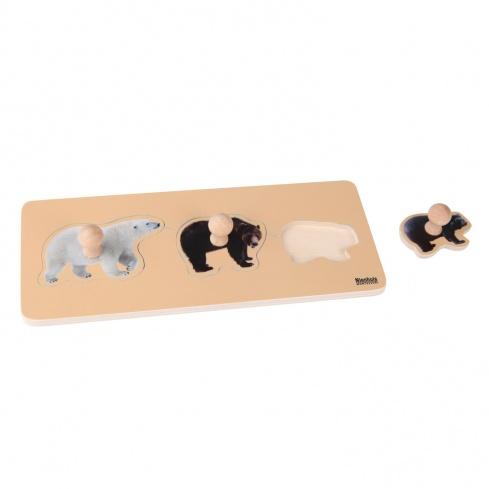 Puzzle tous petits : 3 ours