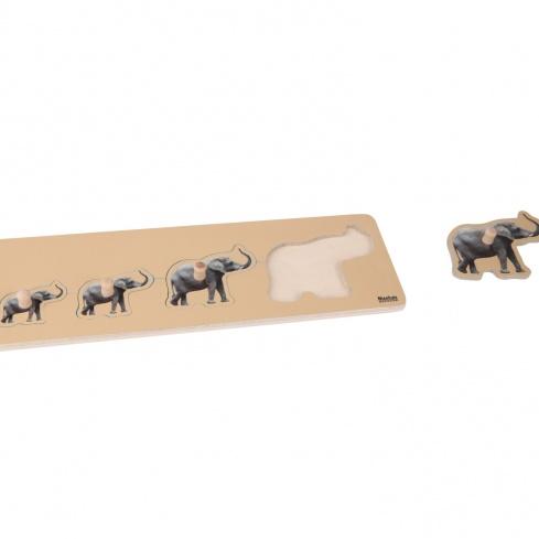 Puzzle tous petits : éléphants