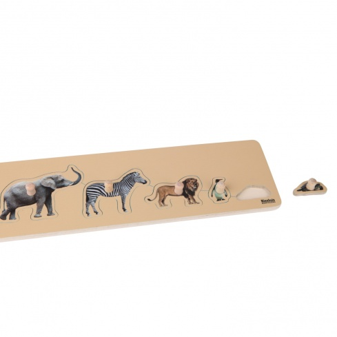 Puzzle tous petits : 5 animaux sauvages