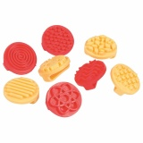 Clay/paint finger printers - Set of 8 pcs.