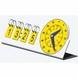 Clock analogue-digital pupils