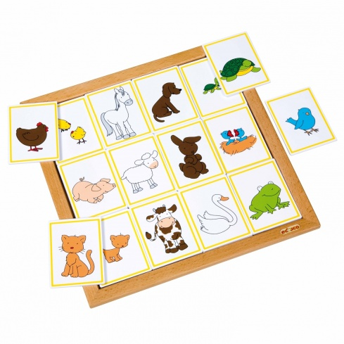 Sorting lotto - animals and their young