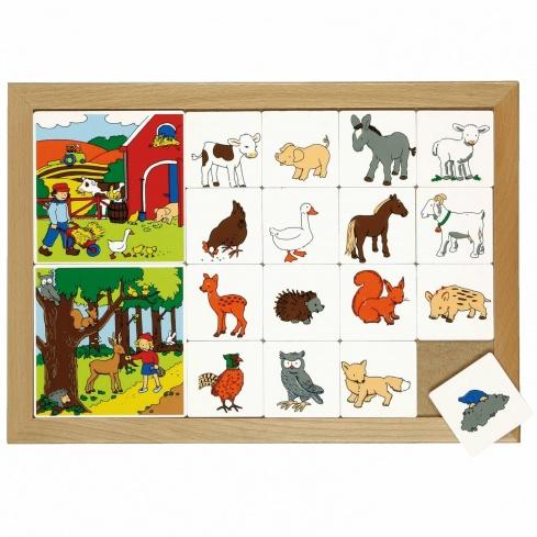 Sorting lotto Animals - Woodland / Farmyard