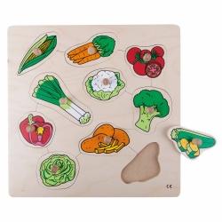 Knob puzzle - vegetables
